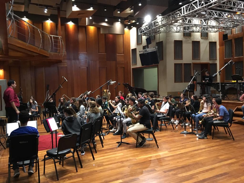 8th Grade Band Recording Session